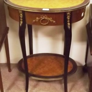 Antique Style French Walnut & Rosewood Lamp Table