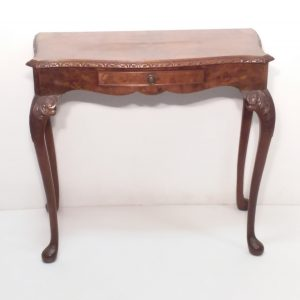 Antique-Style-burr-walnut-serpentine-side-table