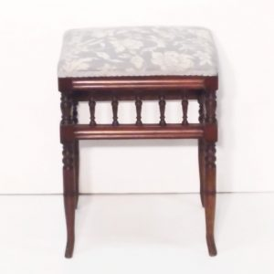 Antique Late Victorian Mahogany Stool