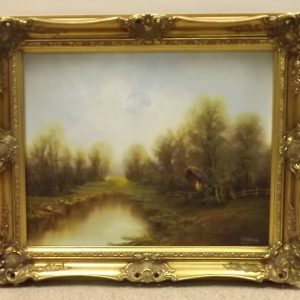 Antique Style Oil on Canvas