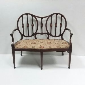Edwardian inland mahogany 2 Seater Couch