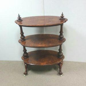 Antique Victorian walnut 3 tier Dumbwaiter