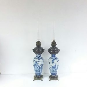 Antique 19thCentury Oil Lamps