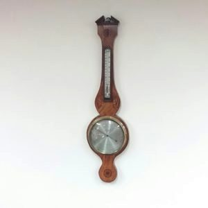 Antique Victorian Inlaid Satinwood Mercury Barometer.