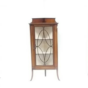 Antique Edwardian Mahogany Corner Display Cabinet