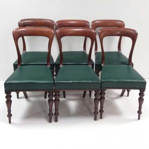Antique Victorian Set of 6 Dining Chairs