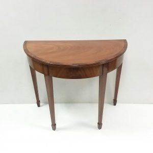 Antique Edwardian Style Demi Lune Table