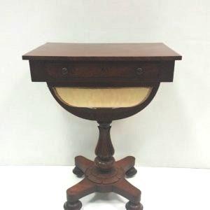 ntique Victorian Mahogany One Drawer Workbox.