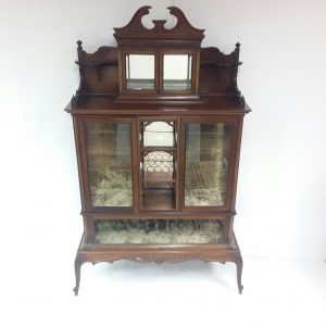 Antique Edwardian Inlaid Cabinet