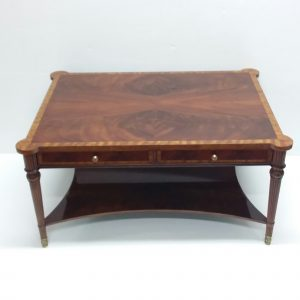 Mahogany Inlay satinwood 2 drawer