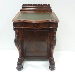 Antique Victorian Burr Walnut Davenport