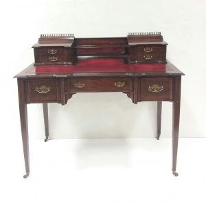 Antique Edwardian Leather Top Desk