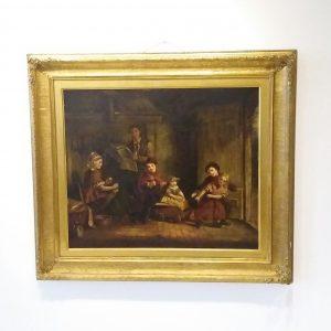 Antique Victorian Oil on Canvas
