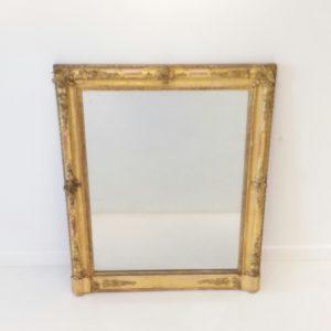 Antique 19th Century Portrait Mirror