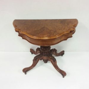 Antique Victorian Burr Walnut Games Table
