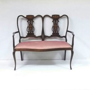 Antique_Edwardian Inlaid Mahogany Window Seat