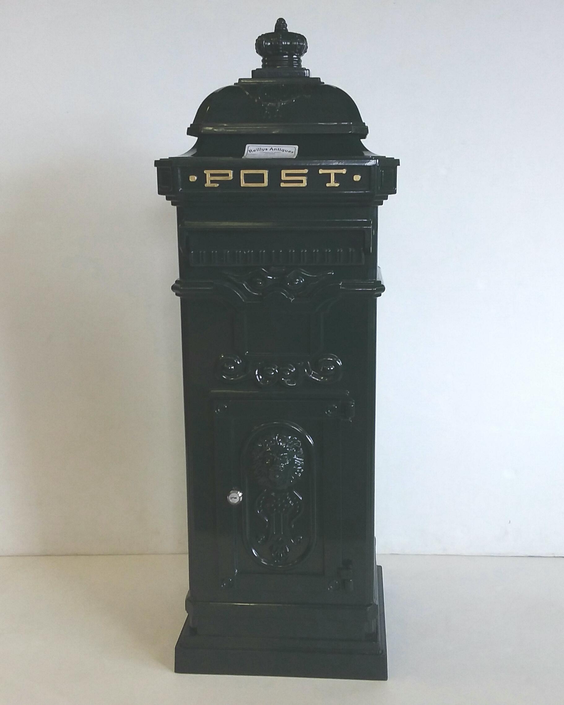 Aluminium Mail Box : Aluminium mail box green reilly antiques