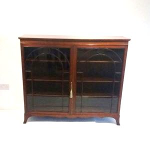 Antique Victorian Floor Bookcase.
