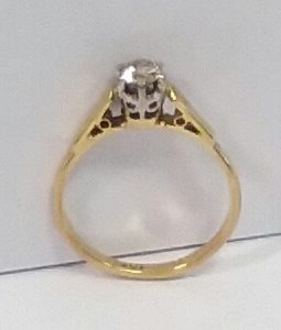 18ct Gold Solitaire Ring
