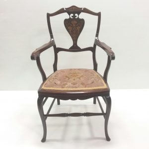 Antique Edwardian Inlaid Armchair