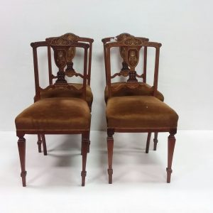 Antique Victorian Inlaid Rosewood Chairs
