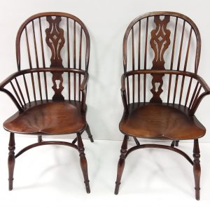 Pair of Ash Windsor Chairs
