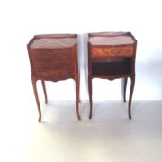Antique Stlye Pair of French Kingswood Night Stands