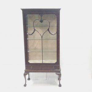 Antique Edwardian Mahogany Slimline Display Cabinet