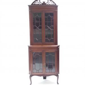 Antique Edwardian Corner Cabinet