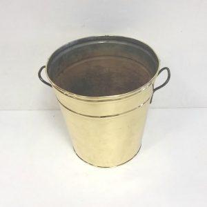 Antique Victorian Brass Log Bin