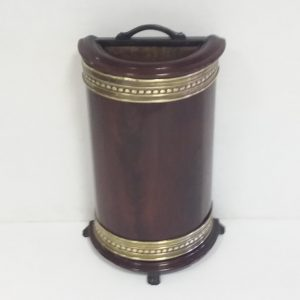 Antique Victorian Demi Lune Stick / Umbrella Stand
