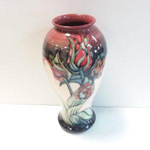 Black Tulip Moorcroft Vase 1992