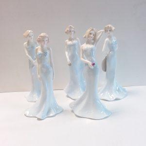 Set of 5 Coalport Figures