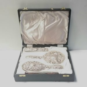 Antique Edwardian Solid Silver Grooming Set