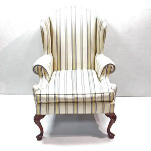 Antique Style Georgian Wingback Armchair.