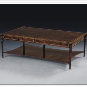 Antique Style Mahogany 5 Leg Cocktail Table