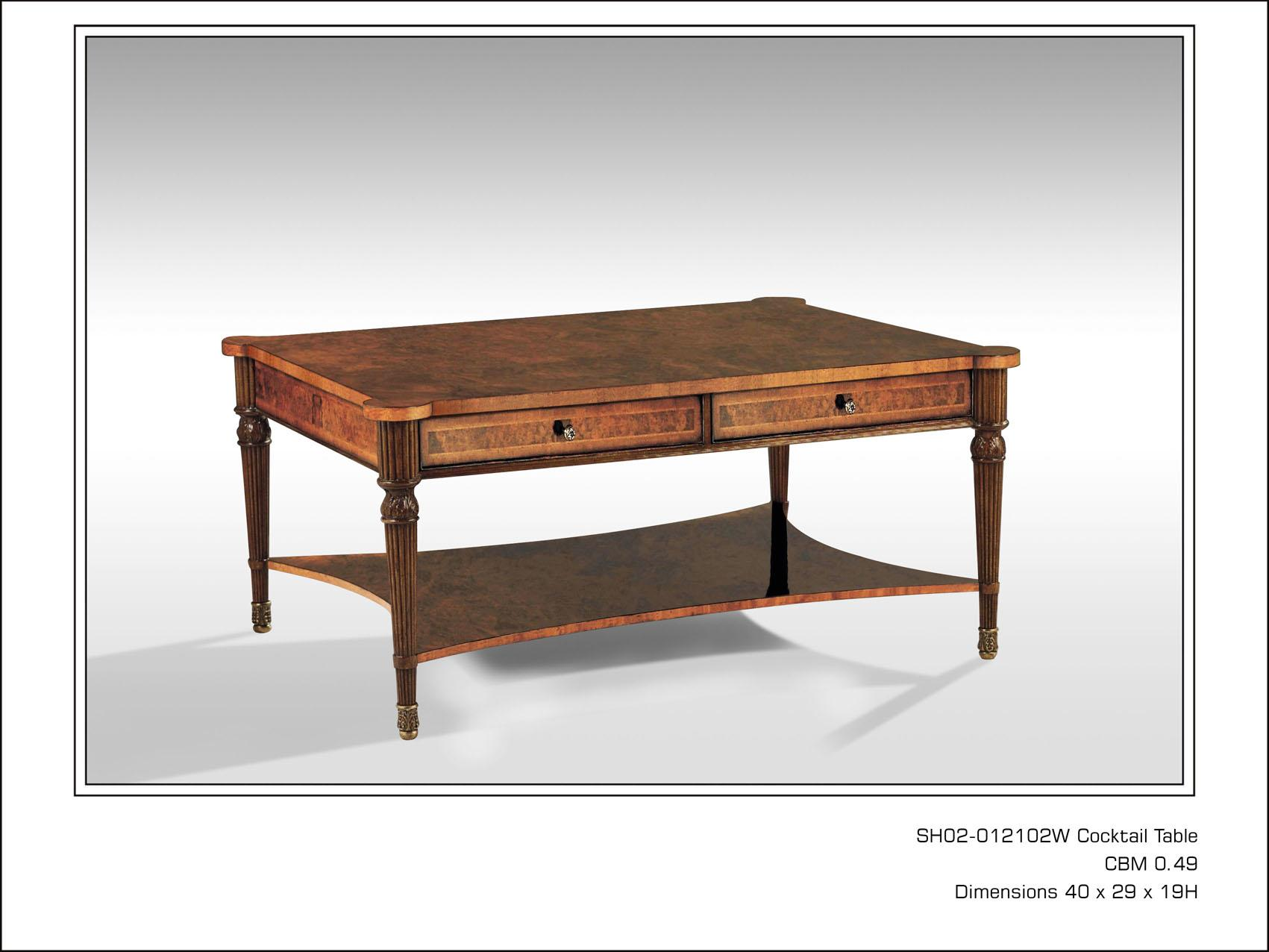 Antique Style Walnut Coffee Table Reilly Antiques