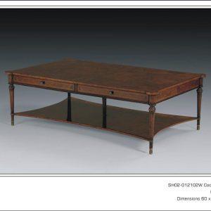 Antique Style Walnut 5 Leg Centre Table