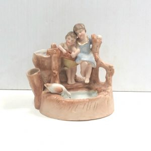 Antique Victorian Group Bisque Figure