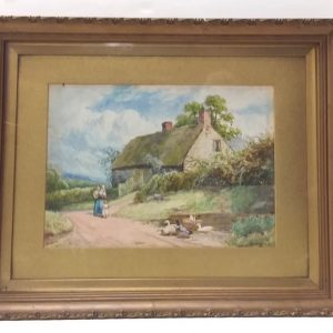 Antique Victorian Gilt Framed Watercolour