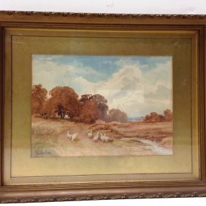 Antique_Victorian_Signed_Gilt_Frame_Watercolour