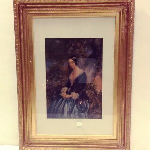 Antique Victorian Gilt Framed Print