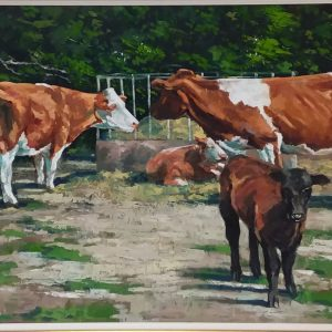 Oil On Canvas By John Fitzgerald