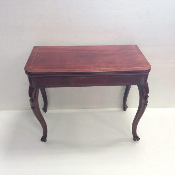 Antique  Edwardian  Fold Over Tea Table