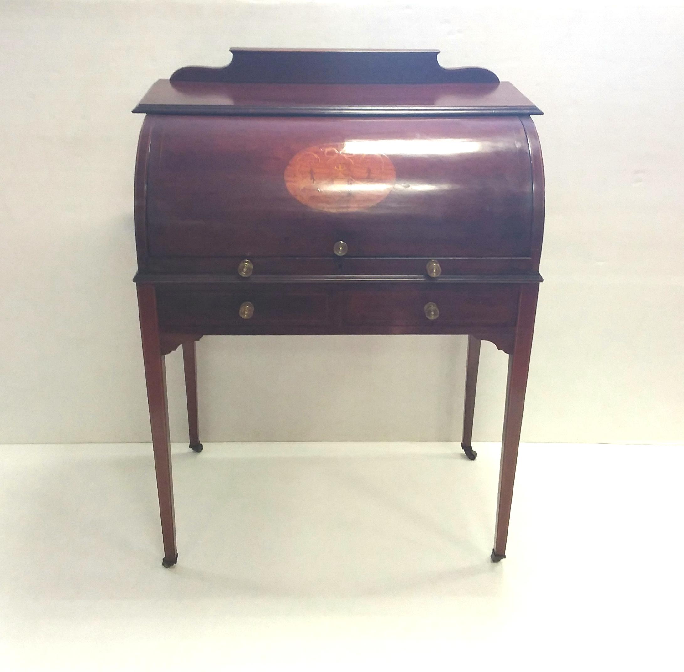 Antique Edwardian Cylinder Desk