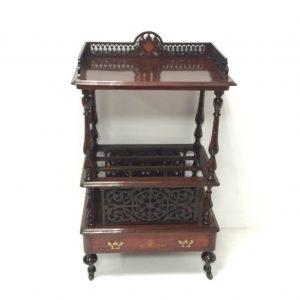 Antique Victorian_ inlaid_rosewood _Canterbury