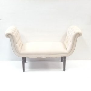 Antique _ Victoria_ upholstered _ window _ seat .
