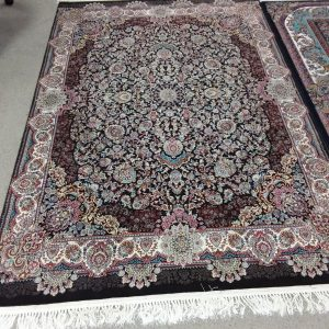 mahestan_ rug_ with_ brown_ border _/ multicoloured
