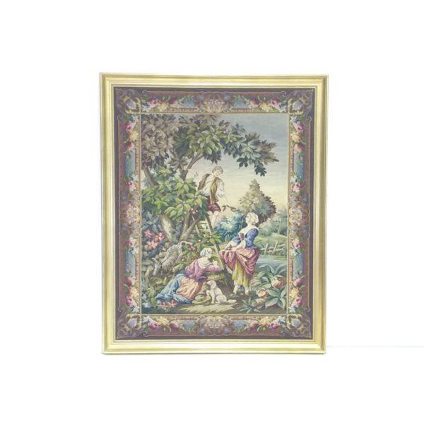 Large Gilt Framed Tapestry