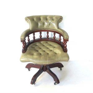 Antique -Style- Captains- Desk- Chair